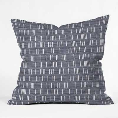 Holli Zollinger Bogo Denim Mudcloth Light Throw Pillow 18 x 18 - Wayfair