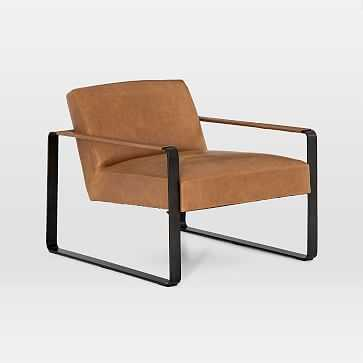Adrian Leather Chair, Palomino - West Elm