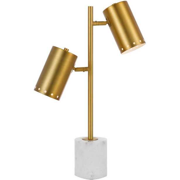 AF Lighting Derry 20 in. Matte Gold Table Lamp - Home Depot