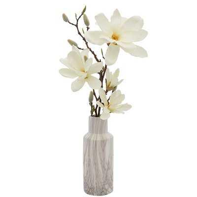 Magnolia Floral Arrangements in Vase - Birch Lane