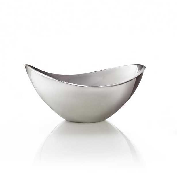 Butterfly 9 in. Alloy Bowl, Silver - Home Depot