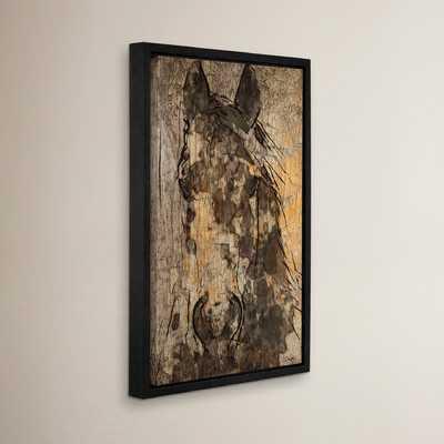Black Diamond Horse Framed Painting Print on Wrapped Canvas - Wayfair