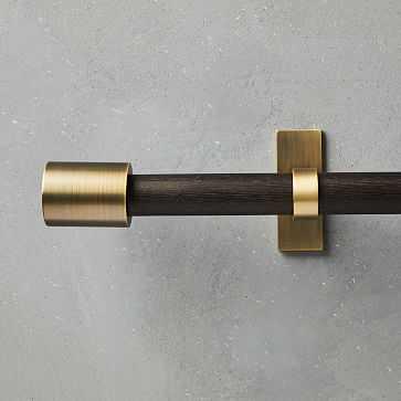 "Mid- Century Rod, Carbon/Brass, 44""-108"" - West Elm"
