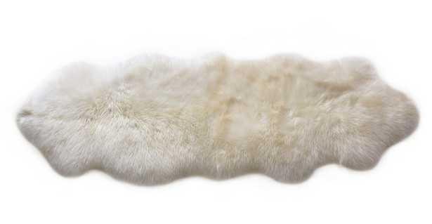 Lanna Ivory Sheepskin Throw 2 x 6 - Article