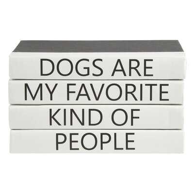 4 Piece Dogs Quote Stack Decorative Book Set - Wayfair