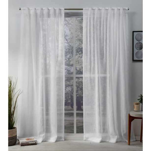 Exclusive Home Curtains Belgian White Sheer Hidden Top Curtain - 50 in. W x 96 in. L (2 panels) - Home Depot
