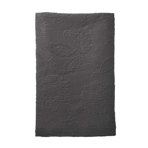 Putnam Matelasse Dark Gray King Coverlet - Home Depot