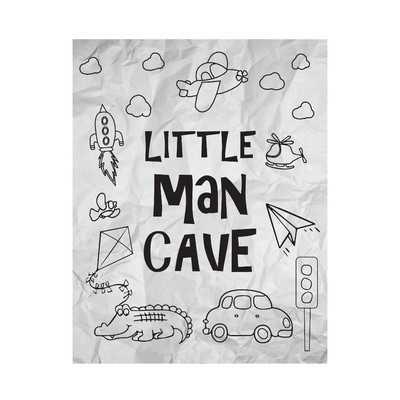 Little Man Cave Paper Print - Wayfair