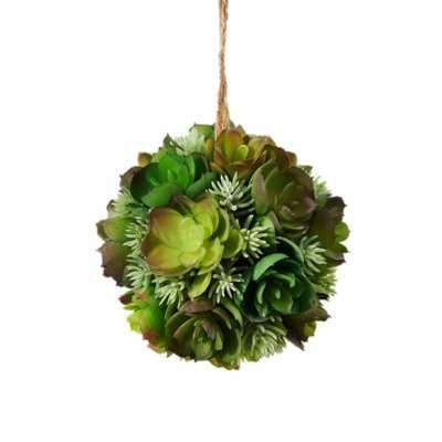 Decorative Artificial Ball Hanging Echeveria Succulent Plant - Wayfair