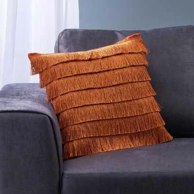 Metzger Throw Pillow Cover, Rust - Wayfair