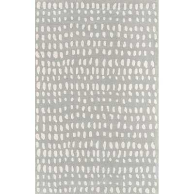 Boho Dots Hand-Tufted Wool Gray Area Rug - Wayfair