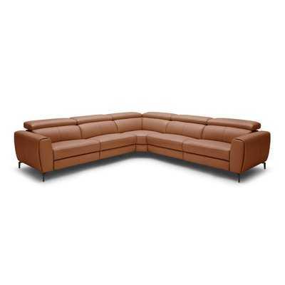 Paulson Leather Reclining Sectional - Wayfair