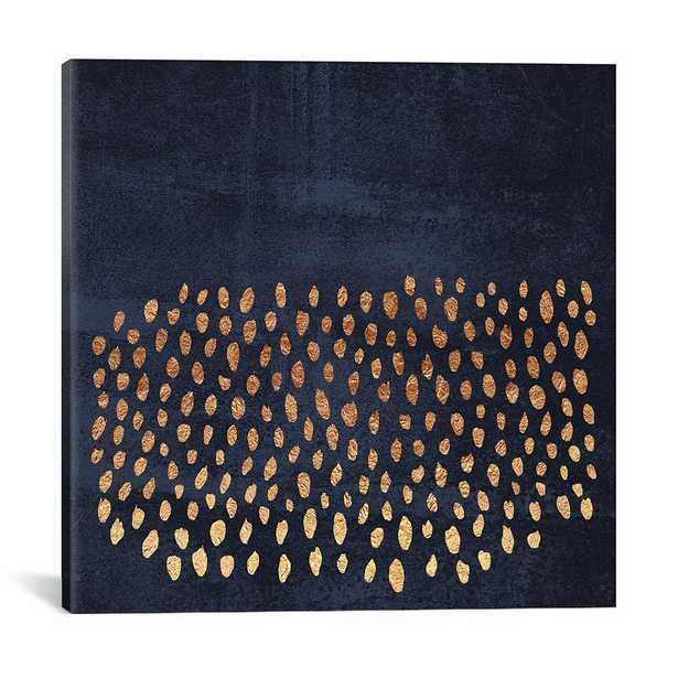 Pattern Play (Gold & Navy) by Elisabeth Fredriksson Canvas Wall Art, Multi - Home Depot