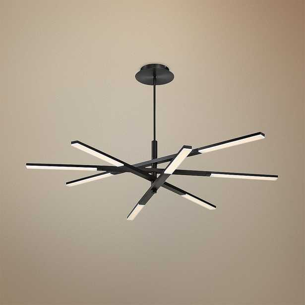 """Modern Forms Stacked 48"""" Wide Black 8-Light LED Chandelier - Style # 55N47 - Lamps Plus"""