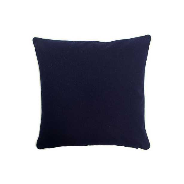 16 in. x 16 in. Navy (Blue) Standard Pillow with Green Eco Friendly Insert - Home Depot