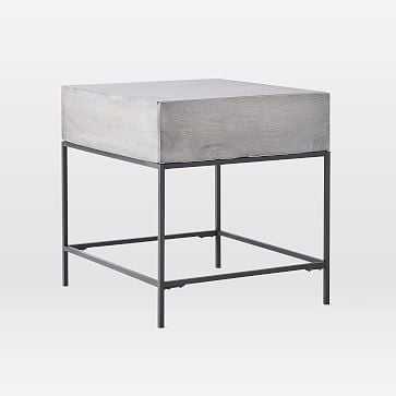 Industrial Storage Side Table, Gray - West Elm