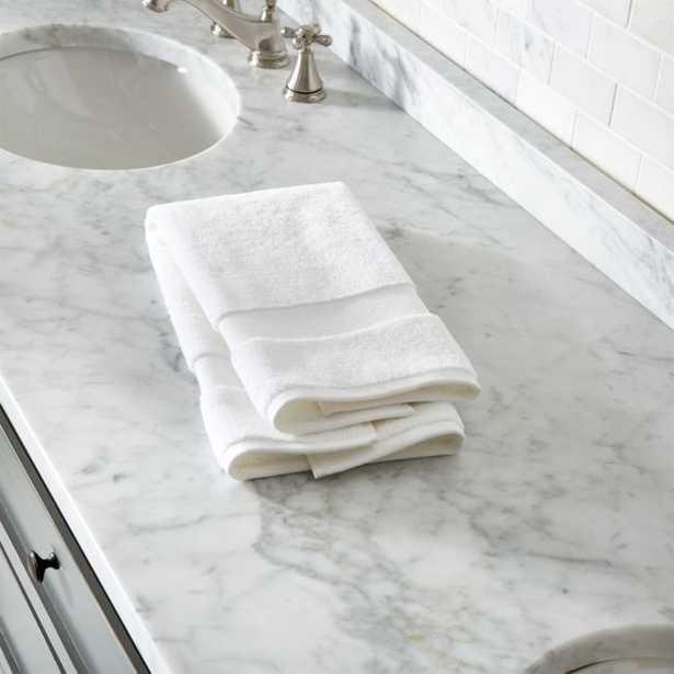 Organic 800-Gram White Turkish Hand Towel - Crate and Barrel