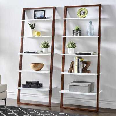 Theophanes Ladder Bookcase- Natural - Birch Lane