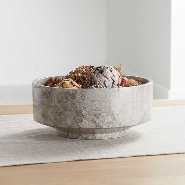 Flint Grey Marble Bowl - Crate and Barrel