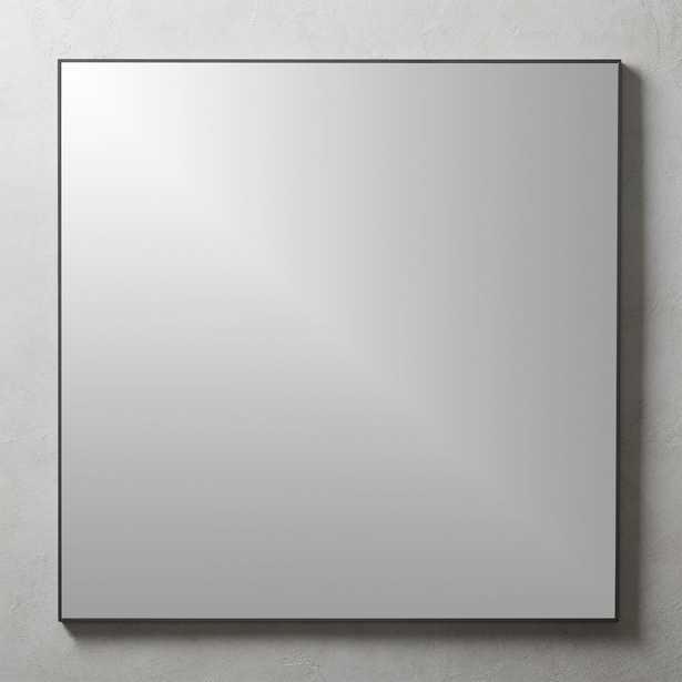 "Infinity Square Black Mirror 31"" - CB2"