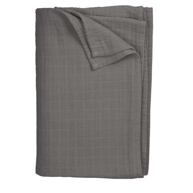 Gossamer Gray Smoke King Blanket - Home Depot