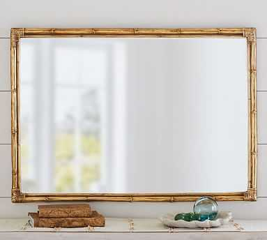 Bamboo Mirror Gold Accent - Pottery Barn