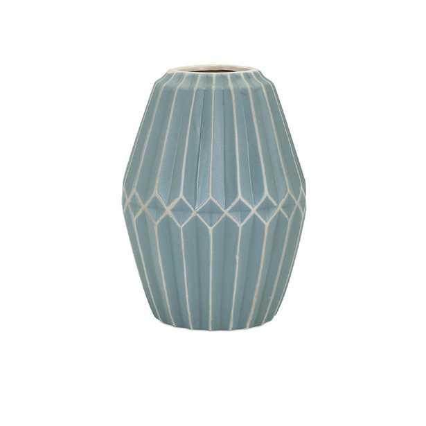 IMAX Asher Blue Medium Vase - Home Depot