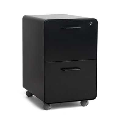 Rolling Stow 2-Drawer Vertical File Cabinet - Wayfair