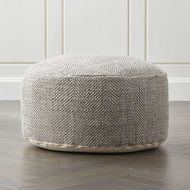 """Fergus 30"""" Round Pouf - Crate and Barrel"""