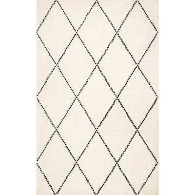 Arruda Hand-Tufted Wool Ivory/Black Area Rug - Wayfair