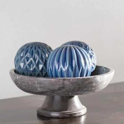 Goodrum Blue 3 Pieces Ball Sculpture Set - Birch Lane