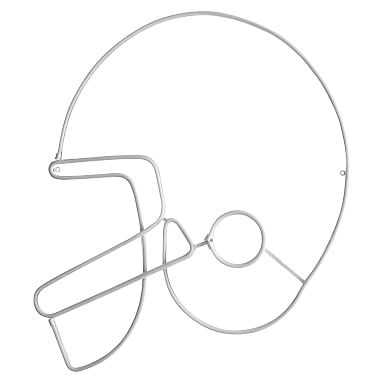 Neon Football Helmet Wall Light - Pottery Barn Teen