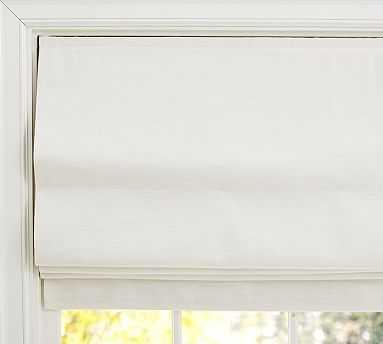"Emery Linen/Cotton Cordless Roman Shade, 44 x 64"", Ivory - Pottery Barn"