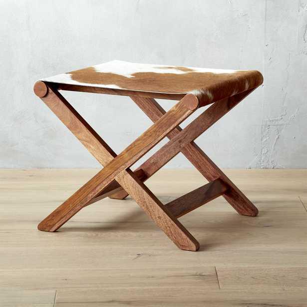 curator hide stool-table - CB2