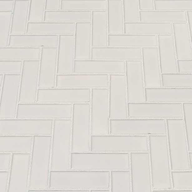 MSI Retro Herringbone Bianco 12.2 in. x 10.83 in. x 6 mm Porcelain Mesh-Mounted Mosaic Tile (13.8 sq. ft. / case), White - Home Depot