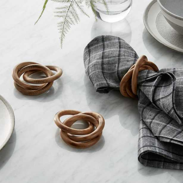 3-Ring Wood Napkin Ring - Crate and Barrel