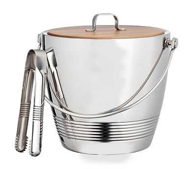 Crafthouse Ice Bucket with Tongs - Pottery Barn
