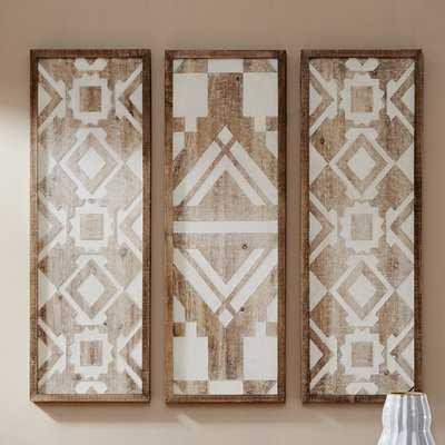 3 Piece Natural Wood Décor Set - Birch Lane