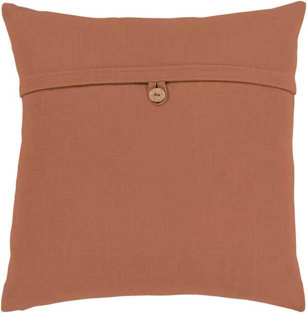 "Perine Pillow, 18""x 18"", Camel - Cove Goods"