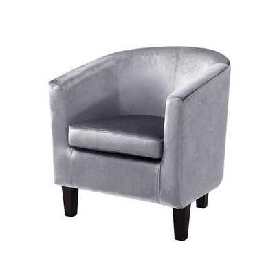 Velvet Barrel Chair - Wayfair