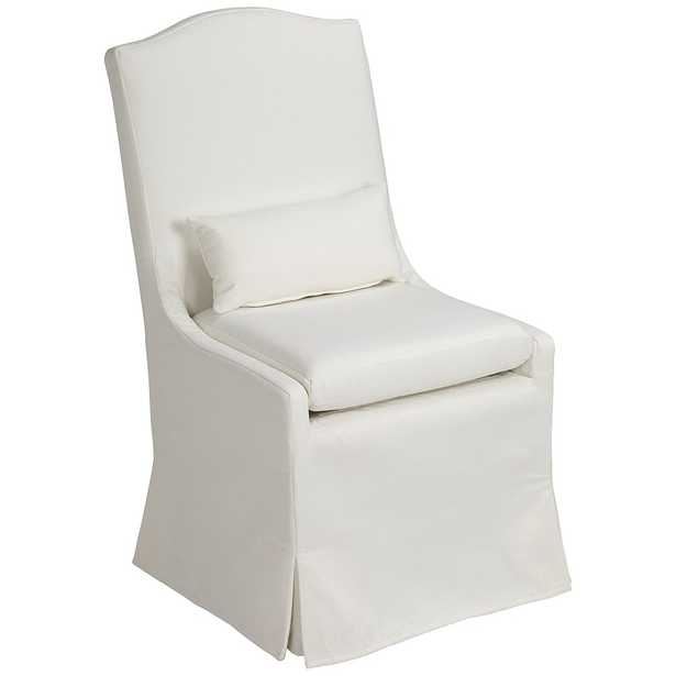 Juliete Peyton Pearl Slipcover Dining Chair - Style # 24V89 - Lamps Plus