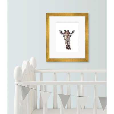 'Baby Giraffe Portrait' Framed Painting Print  15'' H x 13'' W x 0.5'' D - Wayfair