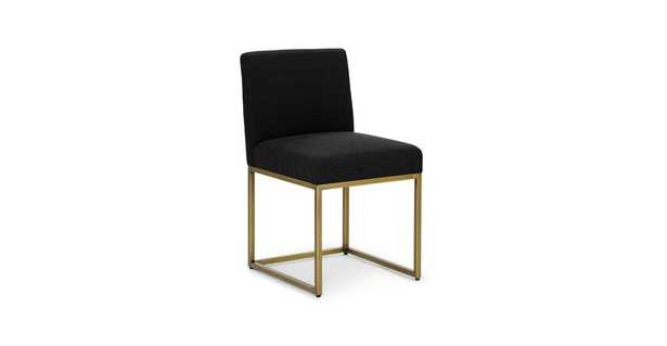 Oscuro Pure Black Dining Chair Pair - Article