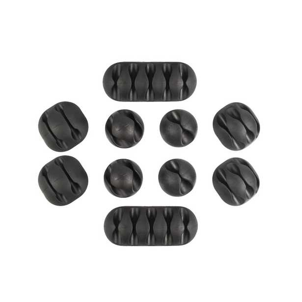 Multipurpose Cable Clips Holders, Black, 10-Pack - Home Depot