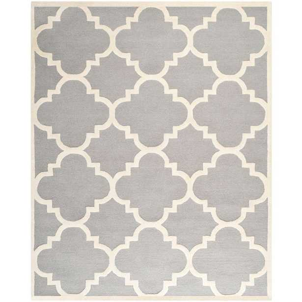 Cambridge Silver/Ivory 10 ft. x 14 ft. Area Rug - Home Depot