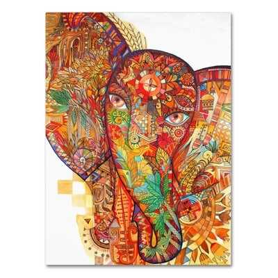 'Red India' Graphic Art Print on Wrapped Canvas - Wayfair