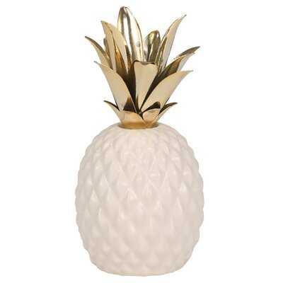 Dorn Ceramic and Metal Pineapple - Wayfair