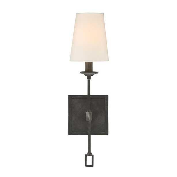 Filament Design 1-Light Oxidized Black Sconce - Home Depot