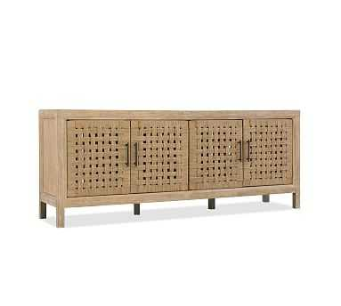 Carver Woven Door Media Console, Rope - Pottery Barn