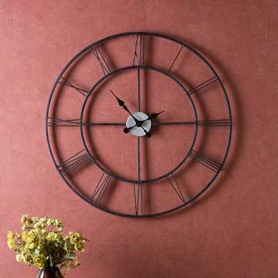 "Oversized Decorative 30"" Wall Clock - Birch Lane"